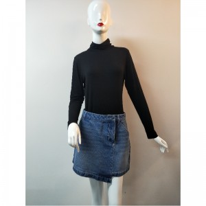 LADIES LIGHT WASH DENIM SKIRT RLWSK0001M