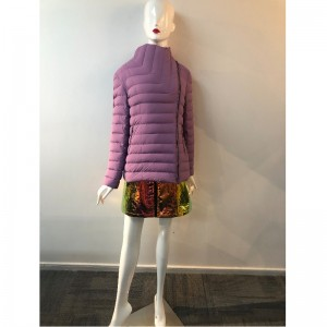 LADIES PURPLE HIGH-COLLAR COAT RLWPC0031