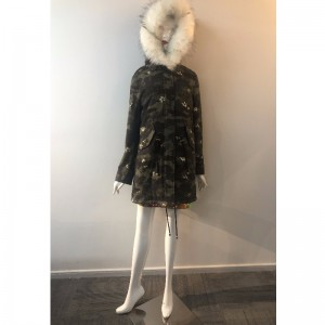 LADIES 'CAMO HOODED COAT RLWPC0034